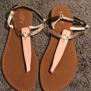 BNWT Loft pink and cream sandal. Size 6